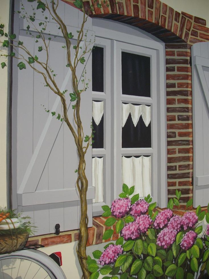 trompe l 39 oeil r alis par anne artiste peintre 76. Black Bedroom Furniture Sets. Home Design Ideas